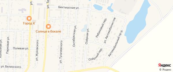 Озерная улица на карте поселка Саксана разъезда с номерами домов