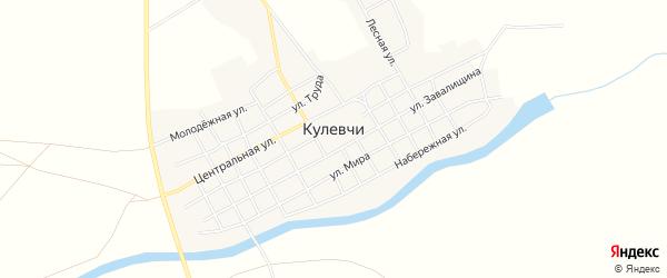 Карта села Кулевчи в Челябинской области с улицами и номерами домов