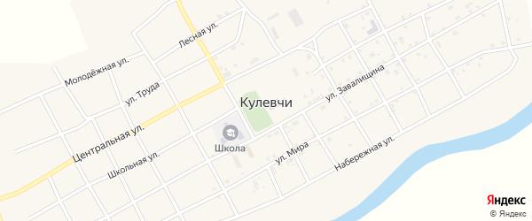 Улица Завалищина на карте села Кулевчи с номерами домов