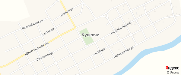 Улица Труда на карте села Кулевчи с номерами домов