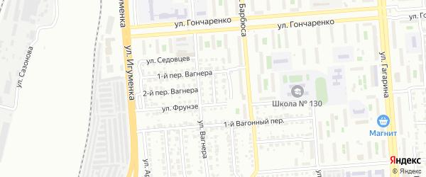 Улица Глазунова на карте Челябинска с номерами домов