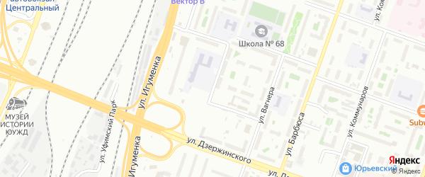 Отечественная улица на карте Челябинска с номерами домов
