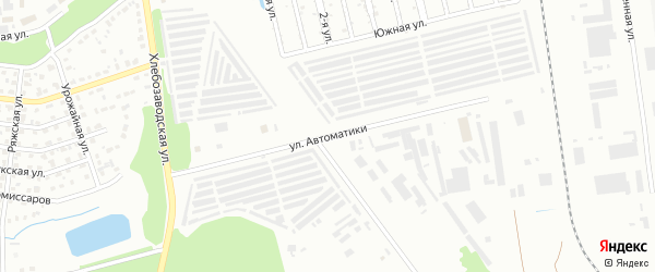 Улица Автоматики на карте Челябинска с номерами домов