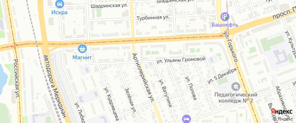 Улица Ульяны Громовой на карте Челябинска с номерами домов