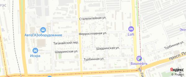 Саранский переулок на карте Челябинска с номерами домов