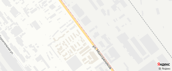 Улица Монтажников на карте Челябинска с номерами домов