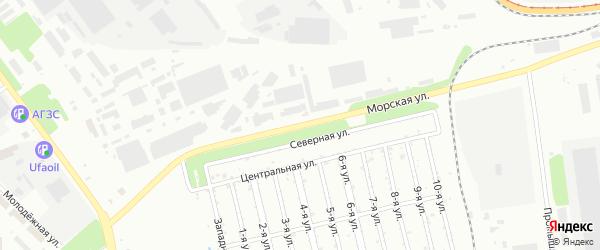 Морская улица на карте Челябинска с номерами домов