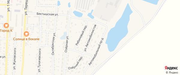 Улица Автомобилистов на карте Коркино с номерами домов
