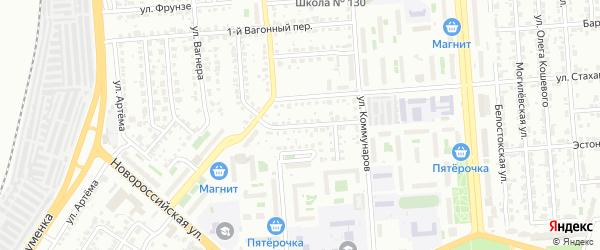 Кондукторский переулок на карте Челябинска с номерами домов