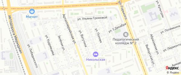Улица Черняховского на карте Челябинска с номерами домов