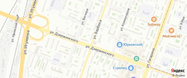 Территория ГСК 318 филиал по ул Барбюса на карте Челябинска с номерами домов