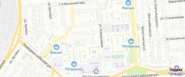 Эстонский переулок на карте Челябинска с номерами домов