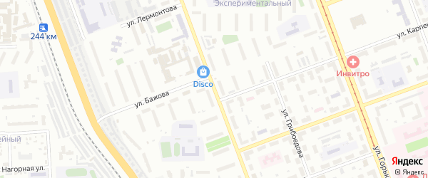 Артиллерийская улица на карте Челябинска с номерами домов