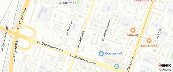 Улица Коллектива на карте Челябинска с номерами домов