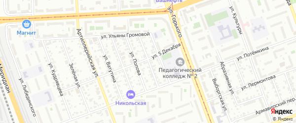 Жемчужная улица на карте Челябинска с номерами домов