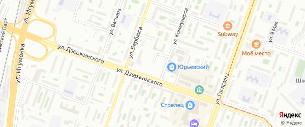 Улица Клубная (Новосинеглазово) на карте Челябинска с номерами домов