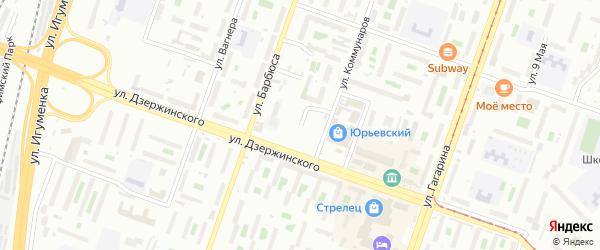 Клубная улица на карте Челябинска с номерами домов