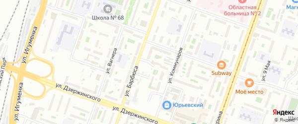 Улица Добролюбова на карте Челябинска с номерами домов