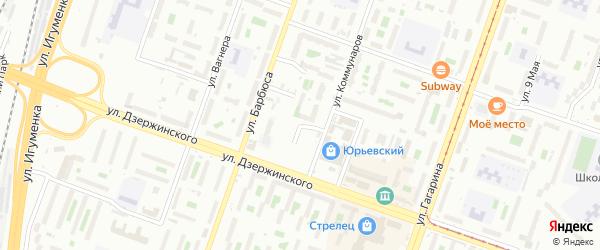 Улица Чернышевского на карте Челябинска с номерами домов