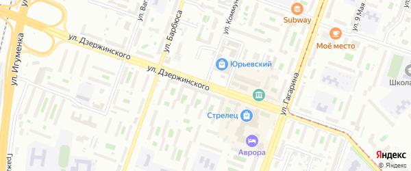 Улица Коммунаров на карте Челябинска с номерами домов