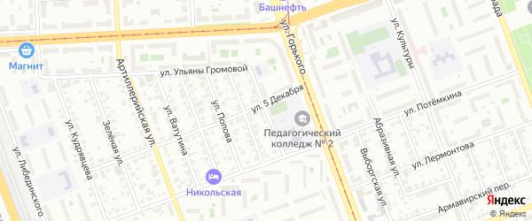 Сухумский переулок на карте Челябинска с номерами домов