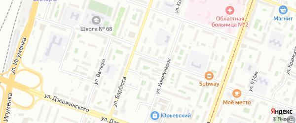 Территория ГСК 318 филиал по ул Агалакова 22 на карте Челябинска с номерами домов