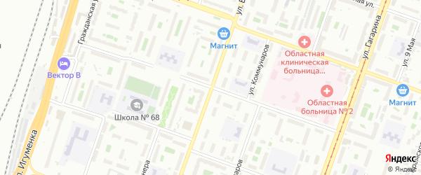 Улица Южный Бульвар на карте Челябинска с номерами домов