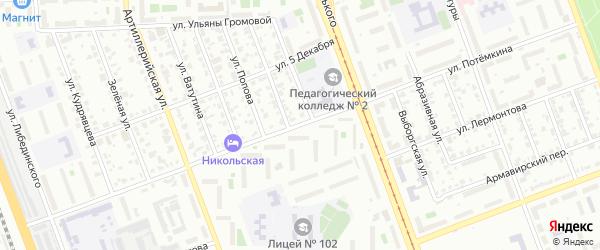 Улица Потемкина на карте Челябинска с номерами домов