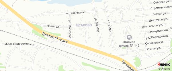 Школьный переулок на карте Челябинска с номерами домов