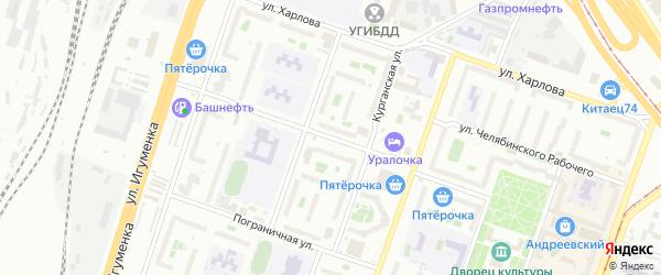 Улица Тухачевского на карте Челябинска с номерами домов