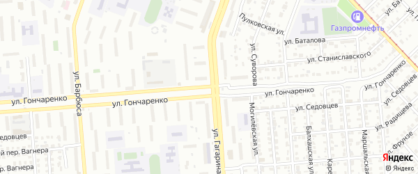 Улица Гончаренко на карте Челябинска с номерами домов