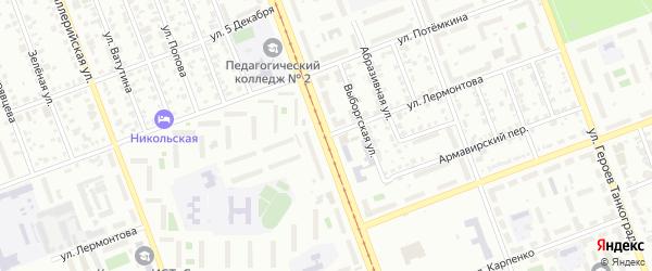 Улица Лермонтова (Новосинеглазово) на карте Челябинска с номерами домов
