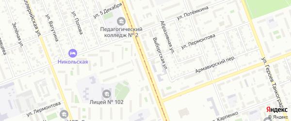 Улица Лермонтова на карте Челябинска с номерами домов