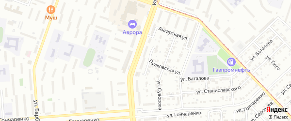 Улица Кутузова на карте Копейска с номерами домов
