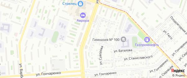 Улица Кутузова на карте Челябинска с номерами домов