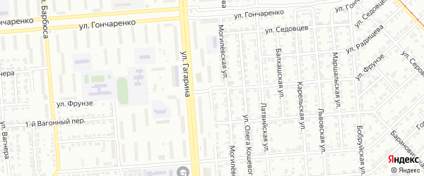 Улица Фрунзе на карте Челябинска с номерами домов