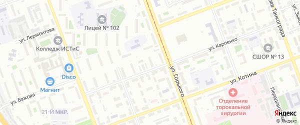 Территория ГСК 407 филиал по ул Карпенко 24-28 на карте Челябинска с номерами домов