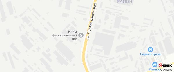 Улица Героев Танкограда на карте Челябинска с номерами домов