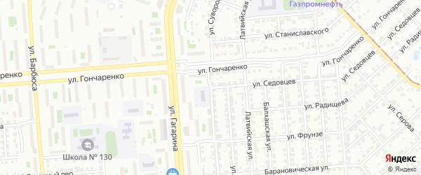Улица Седовцев на карте Челябинска с номерами домов