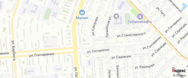 Амурская улица на карте Челябинска с номерами домов