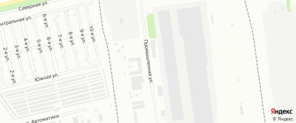 Промышленная улица на карте Челябинска с номерами домов