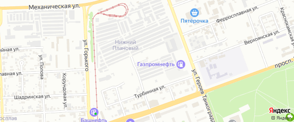 Памирская улица на карте Челябинска с номерами домов
