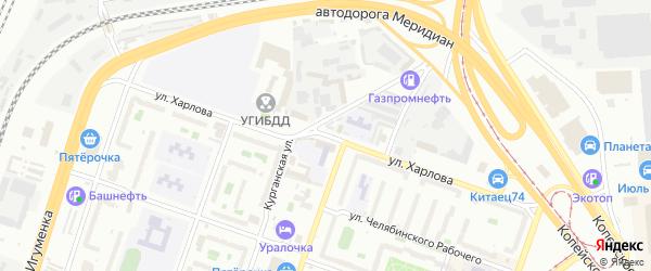 Улица Харлова на карте Челябинска с номерами домов