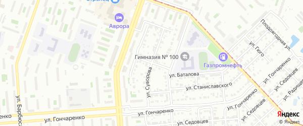 Пулковская улица на карте Челябинска с номерами домов