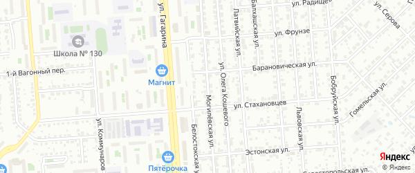 Могилевская улица на карте Челябинска с номерами домов
