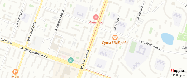 Территория ГСК 318 филиал по ул Гагарина на карте Челябинска с номерами домов
