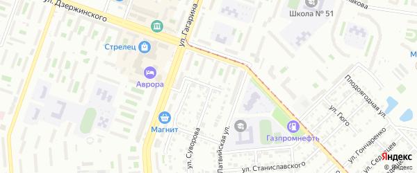 Ангарская улица на карте Челябинска с номерами домов