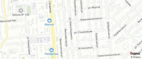 Улица Олега Кошевого на карте Челябинска с номерами домов