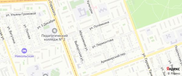 Улица Баумана на карте Челябинска с номерами домов