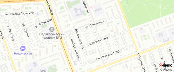 Улица Баумана на карте Копейска с номерами домов
